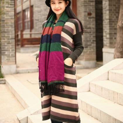 Cotton Sweater Winter long sweater ..
